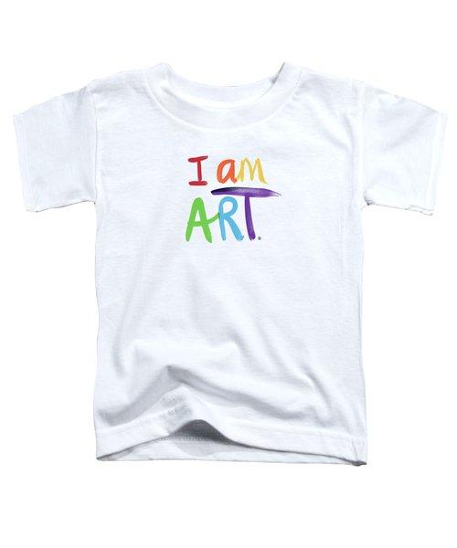 I Am Art Rainbow Script- Art By Linda Woods Toddler T-Shirt