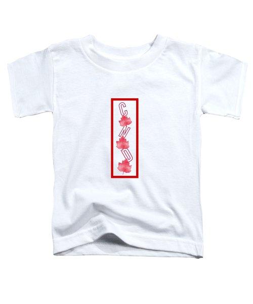 I Am Canadian Toddler T-Shirt by Kathleen Sartoris