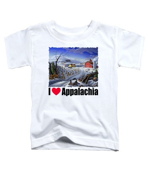 I Love Appalachia - Rural Winter Landscape Toddler T-Shirt