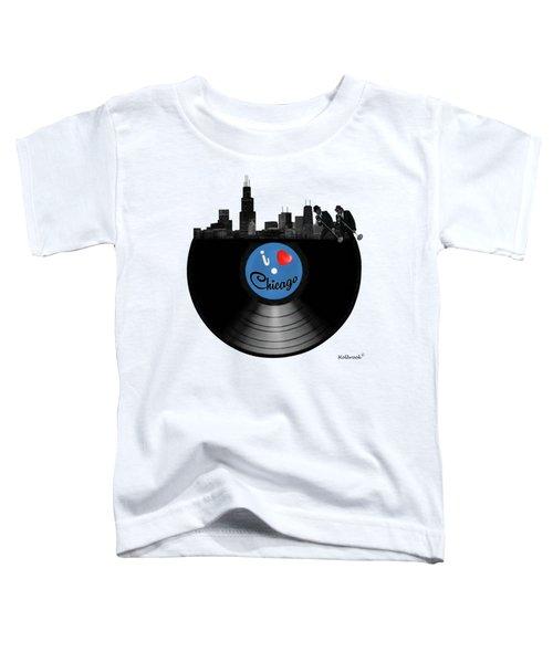 I Love Chicago Toddler T-Shirt by Glenn Holbrook