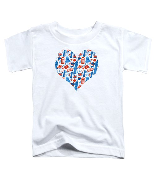 I Love England A Pattern For Anglophiles Toddler T-Shirt