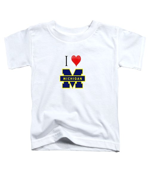 I Love Michigan Toddler T-Shirt by Pat Cook