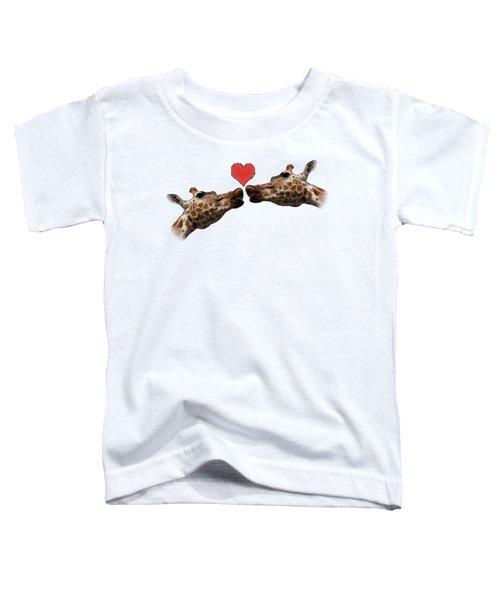 I Love You On Transparent Background Toddler T-Shirt