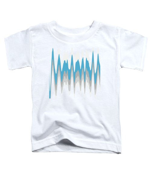 Toddler T-Shirt featuring the mixed media Ice Blue Abstract by Christina Rollo