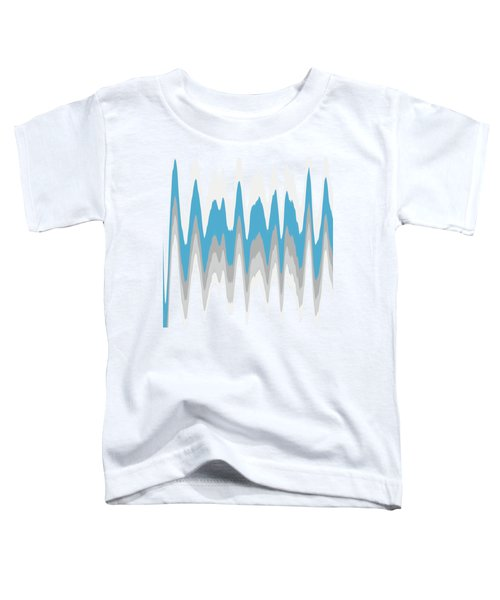 Ice Blue Abstract Toddler T-Shirt