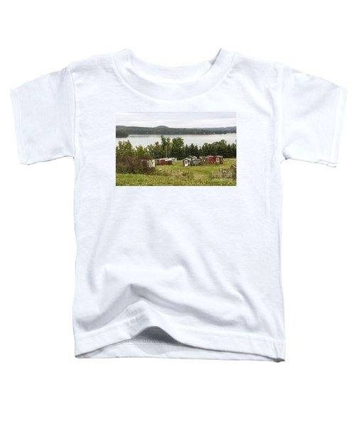 Ice Houses In Vermont Toddler T-Shirt