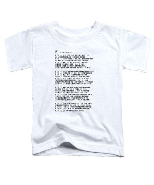 If #minimalism Toddler T-Shirt