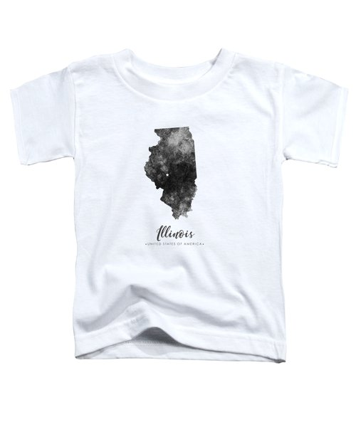 Illinois State Map Art - Grunge Silhouette Toddler T-Shirt