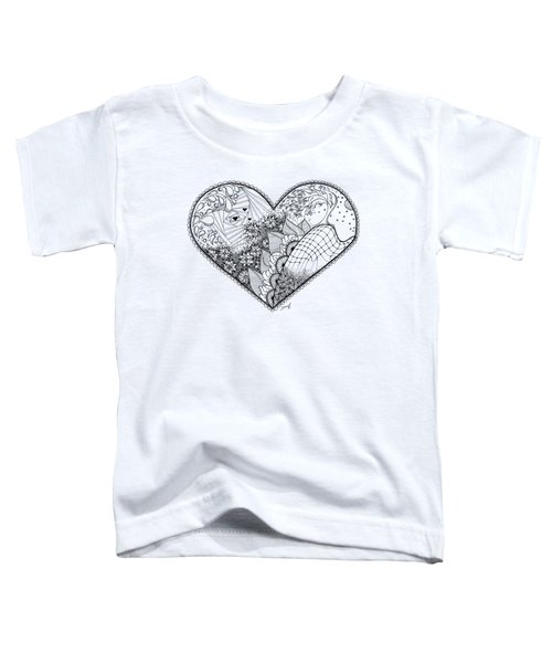 Toddler T-Shirt featuring the drawing In Motion by Ana V Ramirez