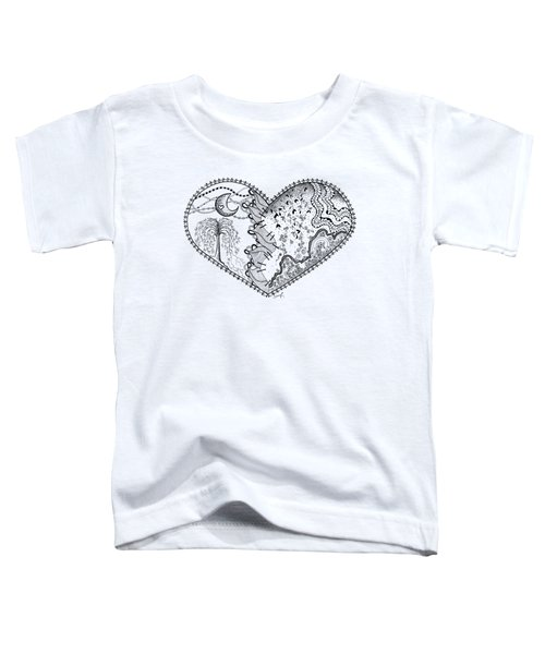 Toddler T-Shirt featuring the drawing Repaired Heart by Ana V Ramirez