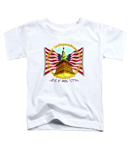 Independence Day July 4th 1776 Design Toddler T-Shirt