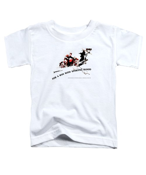 Indian Motorcycle - Sporting Blood 1930 Toddler T-Shirt by Mark Rogan
