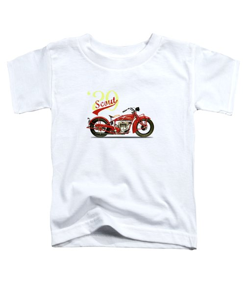 Indian Scout 101 1929 Toddler T-Shirt by Mark Rogan