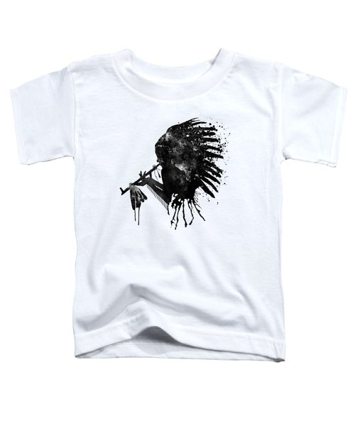 Indian With Headdress Black And White Silhouette Toddler T-Shirt