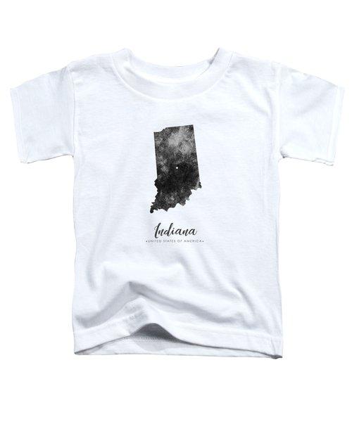 Indiana State Map Art - Grunge Silhouette Toddler T-Shirt