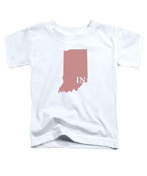 Indiana State Map With Text Of Constitution Toddler T-Shirt