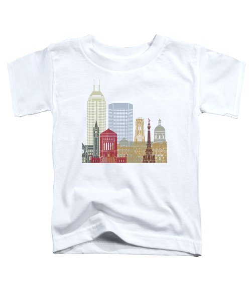 Indianapolis Skyline Poster Toddler T-Shirt