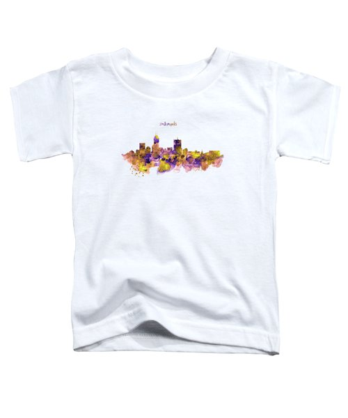 Indianapolis Skyline Silhouette Toddler T-Shirt by Marian Voicu