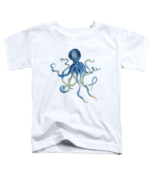 Indigo Ocean Blue Octopus  Toddler T-Shirt
