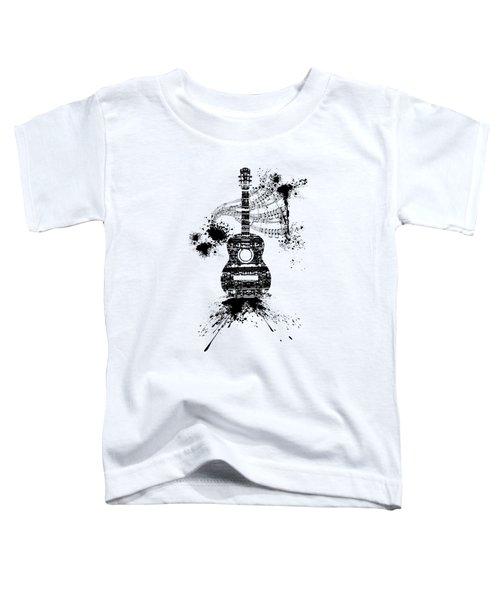 Inked Guitar Transparent Background Toddler T-Shirt