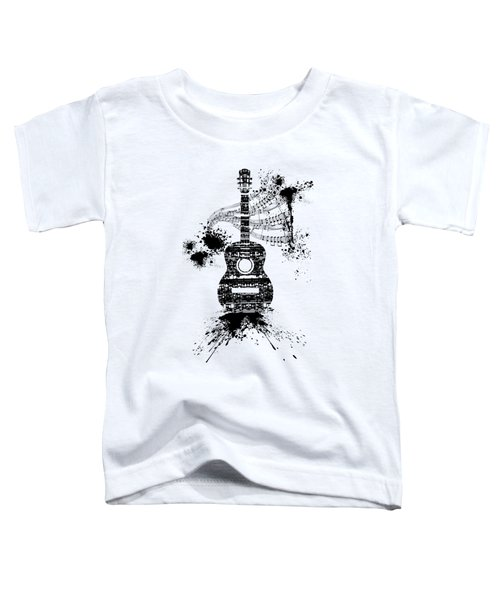 Inked Guitar Transparent Background Toddler T-Shirt