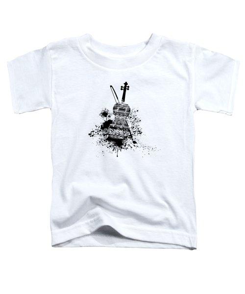 Inked Violin Toddler T-Shirt