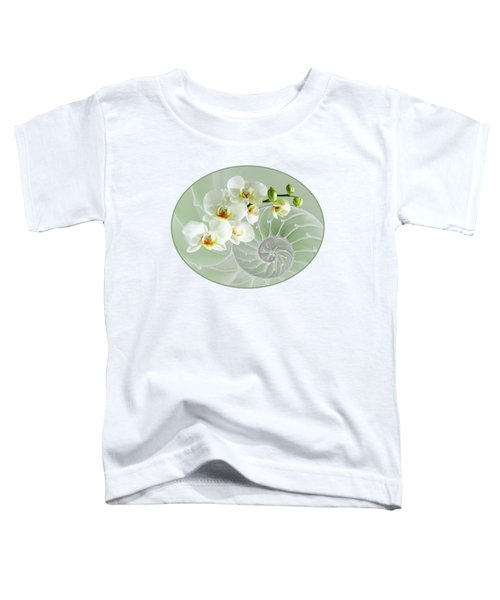 Intimate Fusion In Cool Green Toddler T-Shirt by Gill Billington