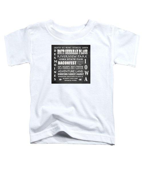 Iowa Famous Landmarks Toddler T-Shirt