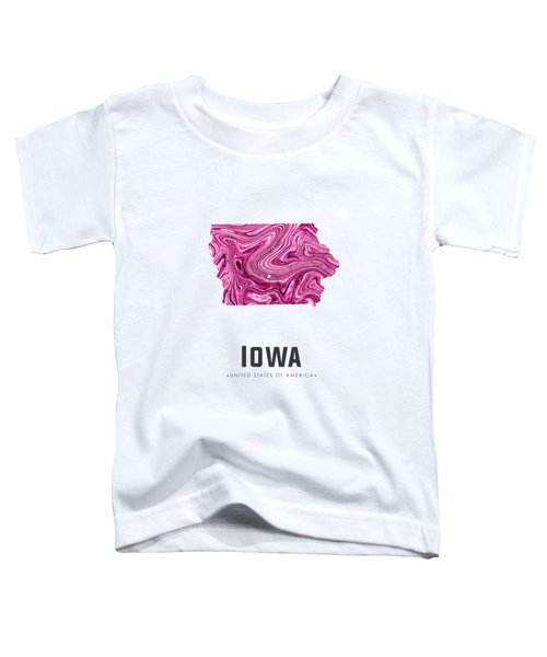 Iowa Map Art Abstract In Purple Toddler T-Shirt