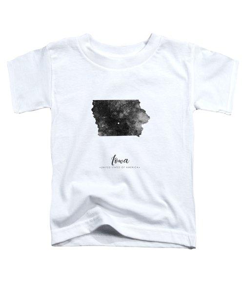 Iowa State Map Art - Grunge Silhouette Toddler T-Shirt