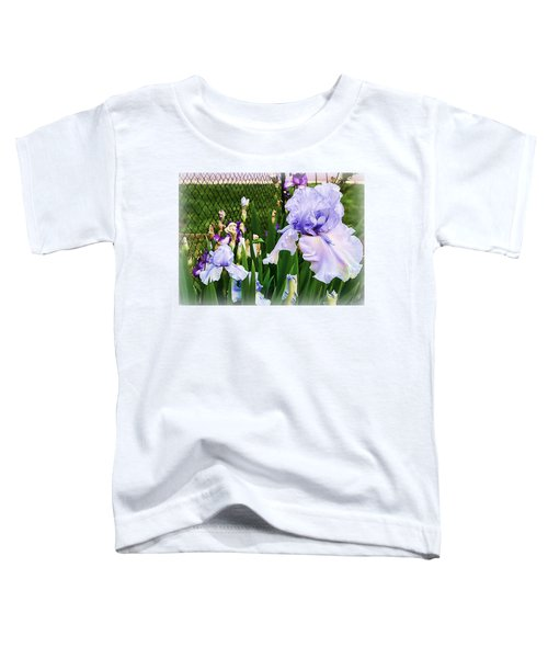 Iris At Fence Toddler T-Shirt