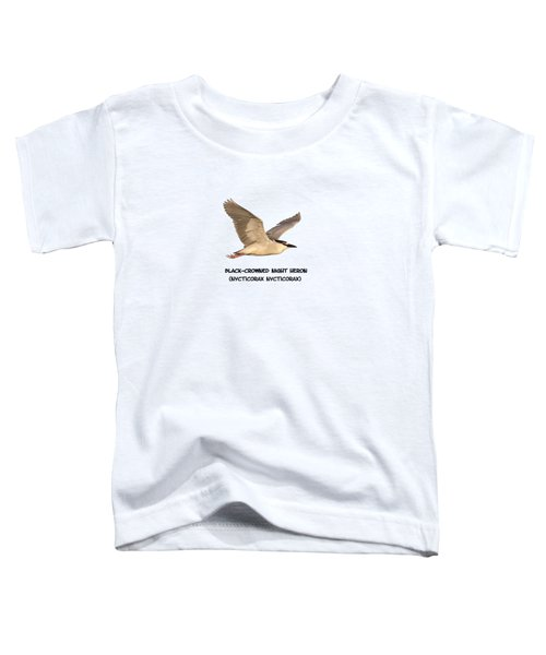 Isolated Black-crowned Night Heron 2017-6 Toddler T-Shirt
