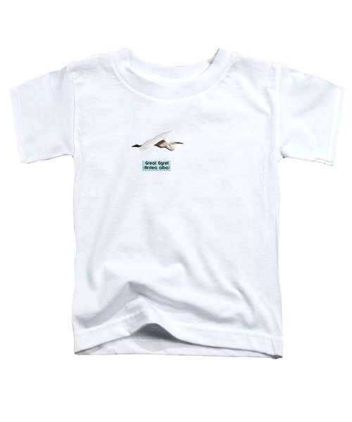 Isolated Great Egret 2018-1 Toddler T-Shirt