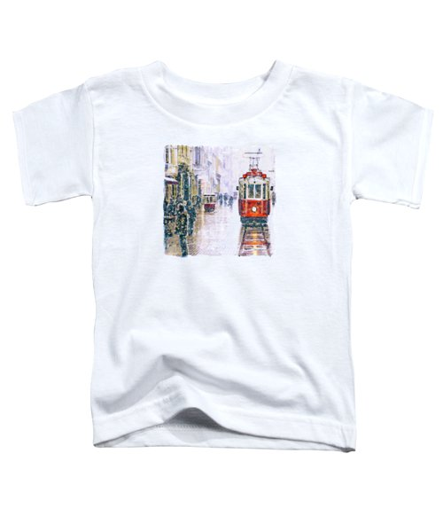 Istanbul Nostalgic Tramway Toddler T-Shirt by Marian Voicu