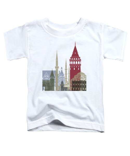 Istanbul Skyline Poster Toddler T-Shirt by Pablo Romero