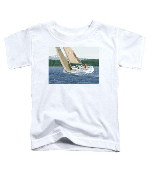 J-109 Sailboat Sail Boat Sailing 109 Toddler T-Shirt