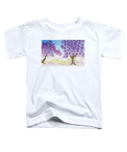 Jacaranda Trees Blooming In Buenos Aires, Argentina Toddler T-Shirt