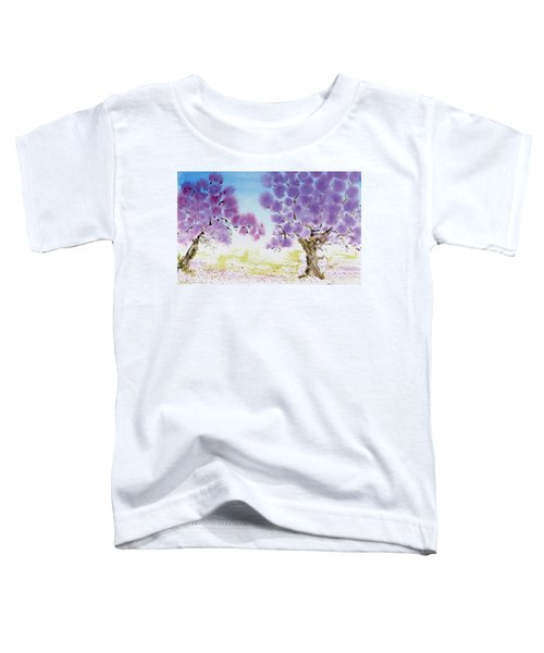 Jacaranda Trees Blooming In Buenos Aires, Argentina Toddler T-Shirt