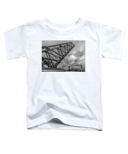 Jackknife Bridge To The Clouds B And W Toddler T-Shirt