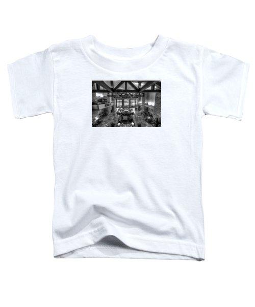 Jackson Lake Lodge Grand Tetons B W Toddler T-Shirt
