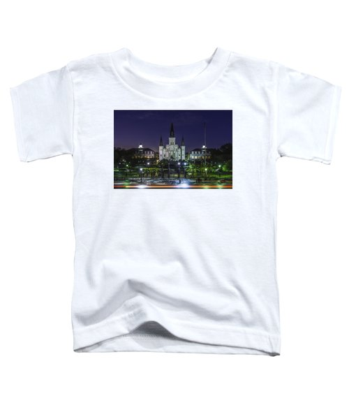 Jackson Square And St. Louis Cathedral At Dawn, New Orleans, Louisiana Toddler T-Shirt
