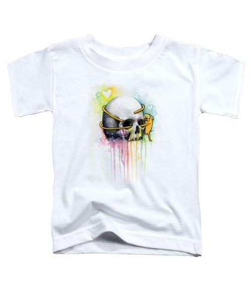 Jake The Dog Hugging Skull Adventure Time Art Toddler T-Shirt