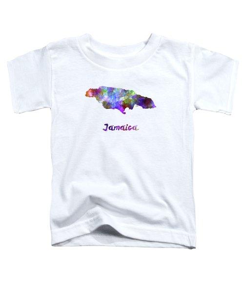 Jamaica In Watercolor Toddler T-Shirt