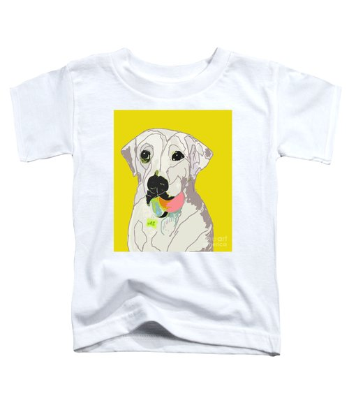 Jax With Ball In Yellow Toddler T-Shirt