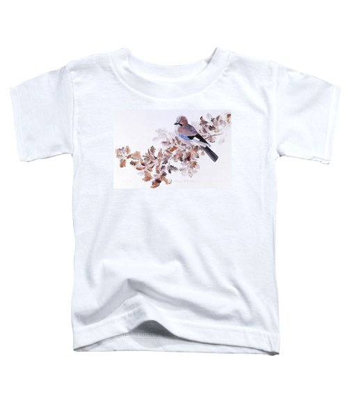 Jay On A Dried Oak Branch Toddler T-Shirt