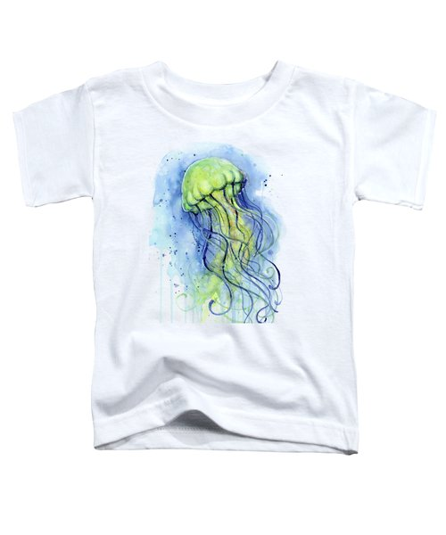 Jellyfish Watercolor Toddler T-Shirt