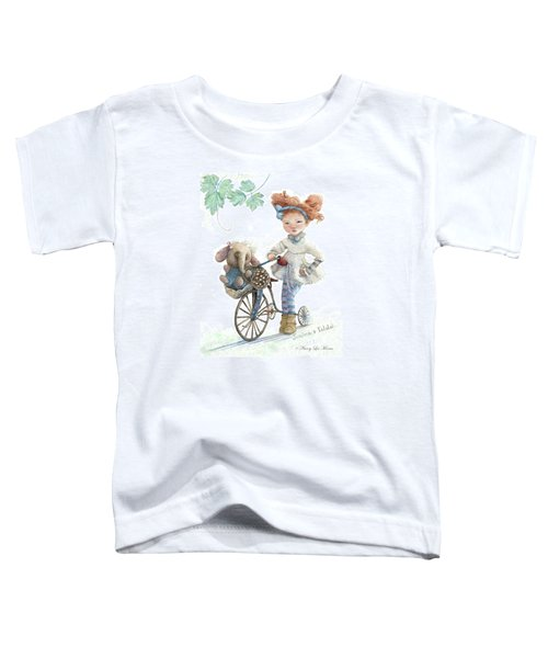 Jemima Starling And Her Elephant Friend Toddler T-Shirt