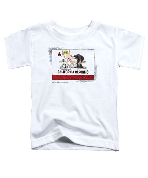 Jerry Brown - California Drought And High Speed Rail Toddler T-Shirt