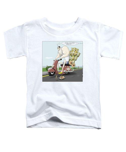 Jim's Shopping Trip Toddler T-Shirt by Kris Burton-Shea