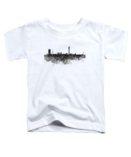 Johannesburg Black And White Skyline Toddler T-Shirt
